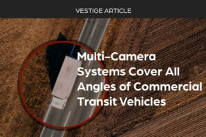Image of semi-truck with multicamera dash cams from Vestige View